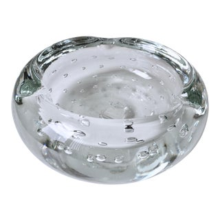 Blenko Controlled Bubble Cigar Ashtray/Dish For Sale