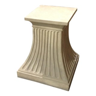 Modern Fluted Stone Dining Table Base For Sale