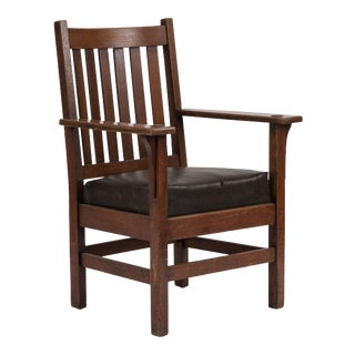 American Mission Oak Arm Chair For Sale