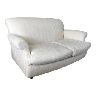 1980s Jean Michel Frank Style White Loveseat by Palazzetti For Sale