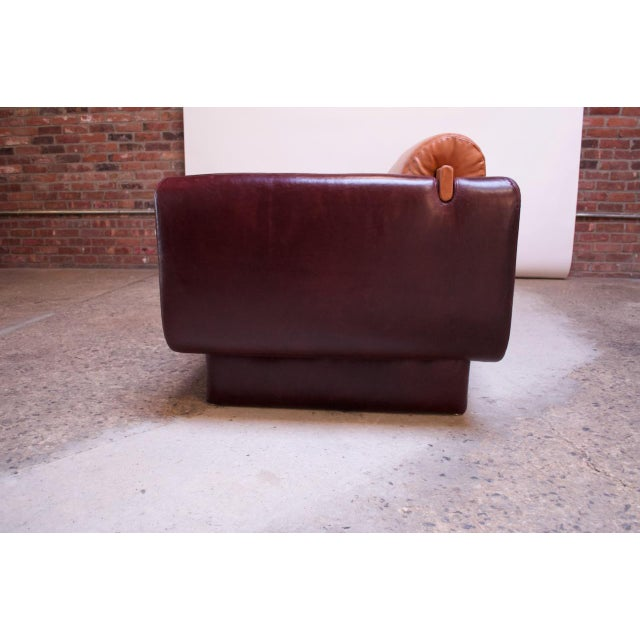 1990s Leather 'Matinee' Sofa / Daybed by Vladimir Kagan For Sale - Image 5 of 13