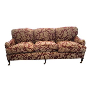 George Smith Japonais Spice Fabric Sofa For Sale