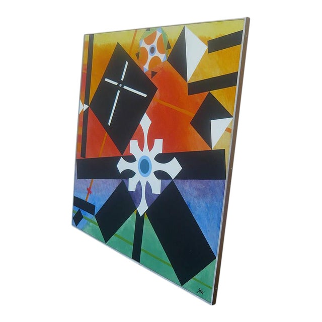 Geometric Abstract Painting by James McCray, 1966 For Sale