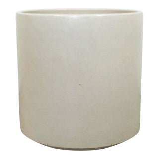 Mid Century Modern Gainey White Ceramic Architectural Floor Planter 1970s For Sale