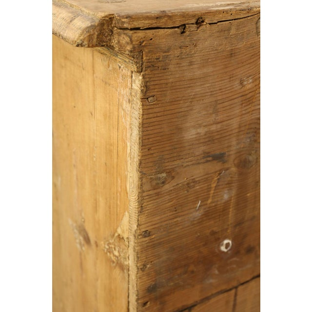 Italian Serpentine-Front Pine Commode For Sale - Image 12 of 13