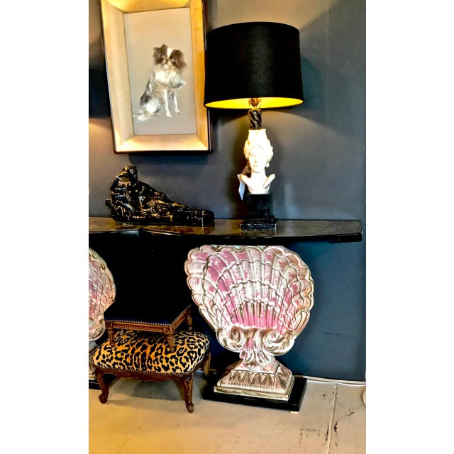 Maison Jansen Hollywood Regency Shell Consoles - a Pair For Sale - Image 4 of 8