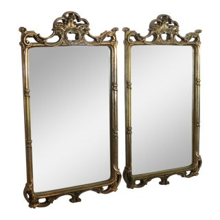 1910s Dark Gilt Mirrors - a Pair For Sale