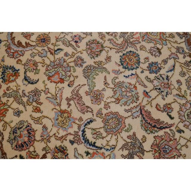 """White Karastan 8'8"""" X 10'6"""" Tabriz Room Size Rug Carpet For Sale - Image 8 of 12"""