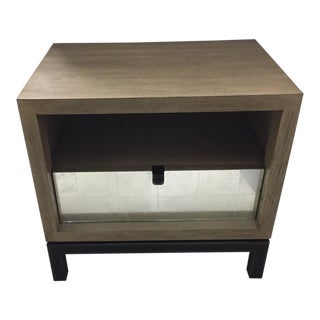 Modern Lina Reclaimed Wood Mirrored Nightstand For Sale