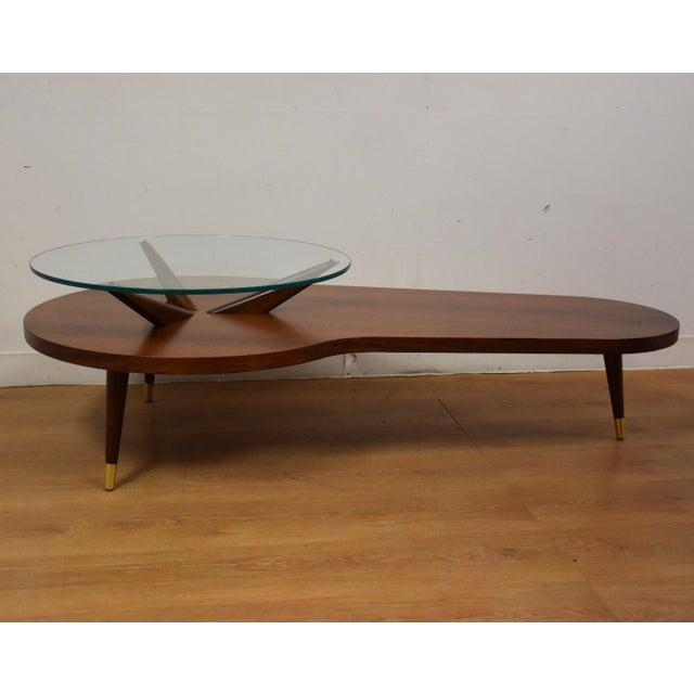 Kagan Style Walnut Coffee Table - Image 2 of 10
