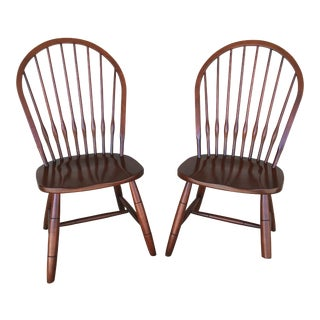 Modern Ethan Allen New Country Hoop Back Gilbert Side Chairs- A Pair For Sale
