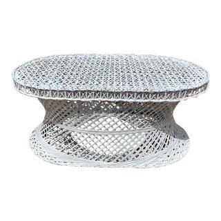Vintage Mid-Century Russell Woodard Spun Fiberglass Oval Patio Table For Sale