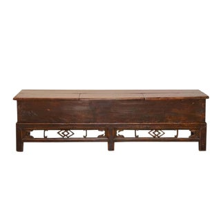 20th Century Boho Chic Oversized Trunk Bench For Sale