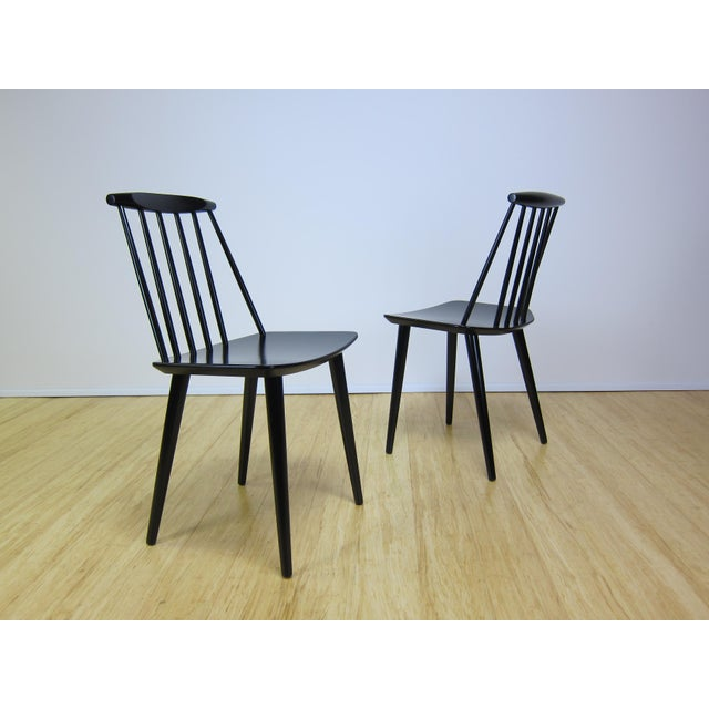 1968 Folke Palsson Black J77 Chairs for Fdb Mobler - a Pair For Sale - Image 10 of 10