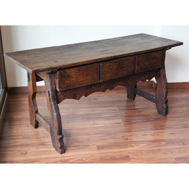 18th Spanish Refectory Table with Three Drawers - Image 3 of 8