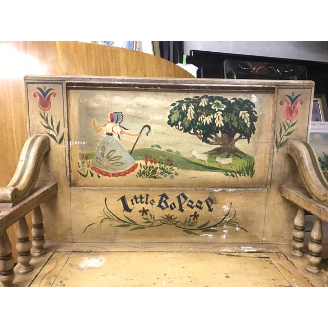 Mid 19th Century Mid 19th Century Children's Bo Peep Bench For Sale - Image 5 of 6