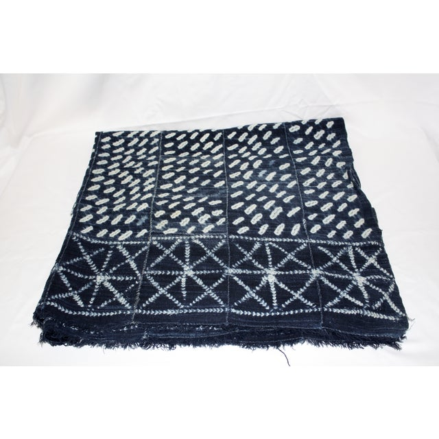Vintage Mali Indigo Throw/Fabric For Sale In Los Angeles - Image 6 of 6