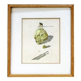 Mid Century Modern Framed Salvador Dali Signed Lithograph Return For Sale