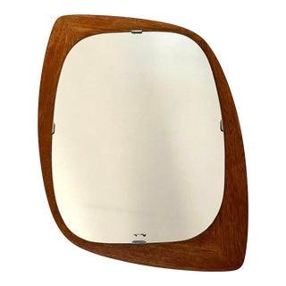 Mid-Century Scandinavian Norwegian Teak Mirror For Sale