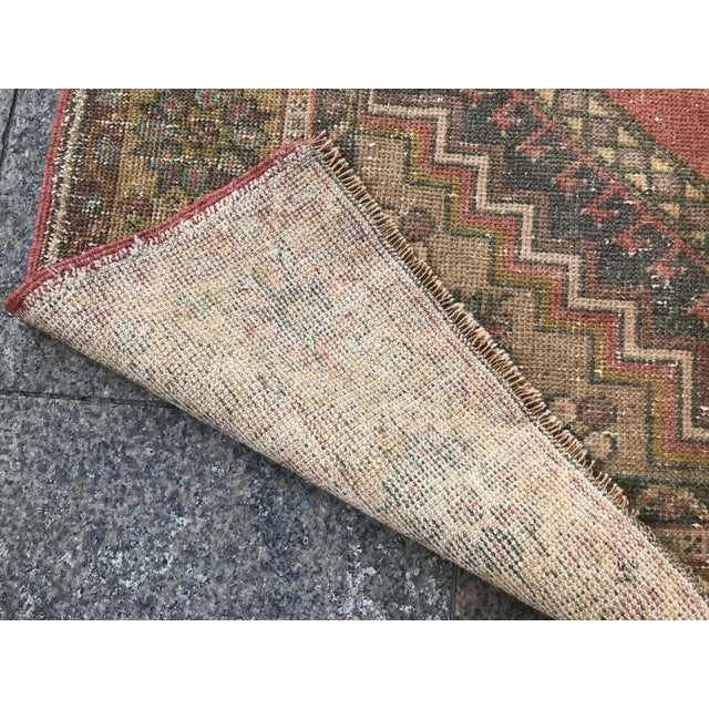 Handwoven Antique Turkish Wool Rug - 3′7″ × 5′11″ For Sale - Image 4 of 10