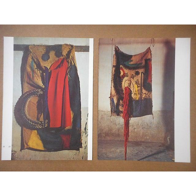 Red Vintage Mid 20th C. Quadrichrome Photographic Prints-Derriere Le Miroir-Miro-Tapestries-A Pair For Sale - Image 8 of 8
