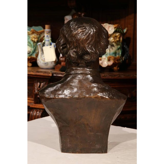19th Century French Bronze Bust Signed by Jean-Francois Delorme For Sale In Dallas - Image 6 of 9
