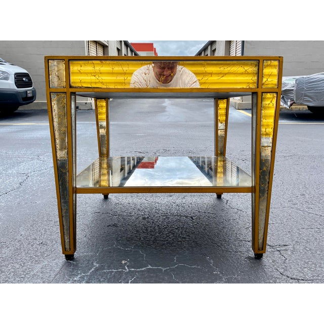 Hollywood Regency Mirrored End Table For Sale In Miami - Image 6 of 10
