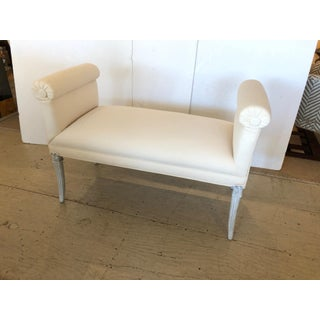 1940s Vintage French Upholstered Window Bench Preview