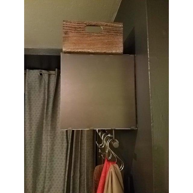 ABC Carpet Mod Steel Coat/Hat Rack With Shelf For Sale - Image 4 of 7