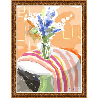"""""""Delphiniums"""" By Dana Gibson, Framed Art Print For Sale"""