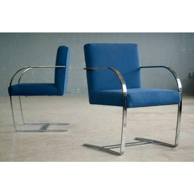 Pair of Brno Style Side Chairs in the Manner of Mies van der Rohe - Image 2 of 10