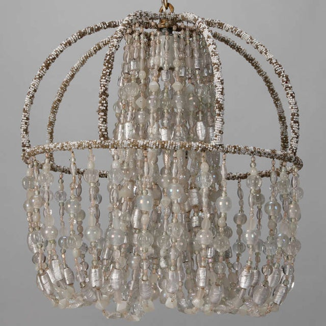 Circa 1900 Unusual All Beaded French Fixture - Image 4 of 5