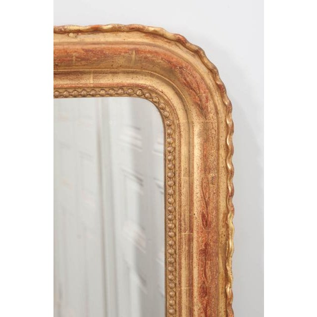 Late 19th Century French 19th Century Gold Gilt Louis Philippe Mirror For Sale - Image 5 of 9