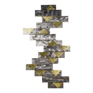 Brutalist Geometric Metal & Brass Wall Decor