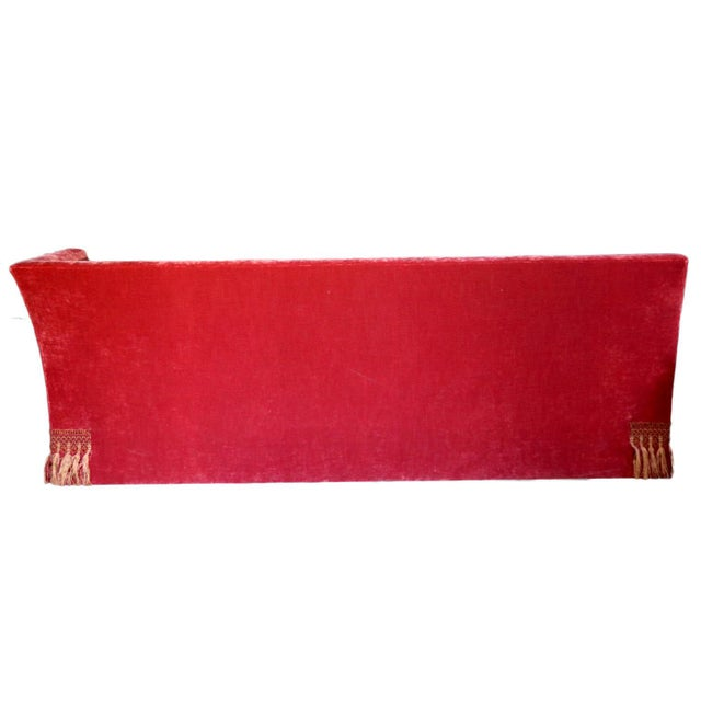 Red French Left Arm Banquette Settee For Sale - Image 8 of 11