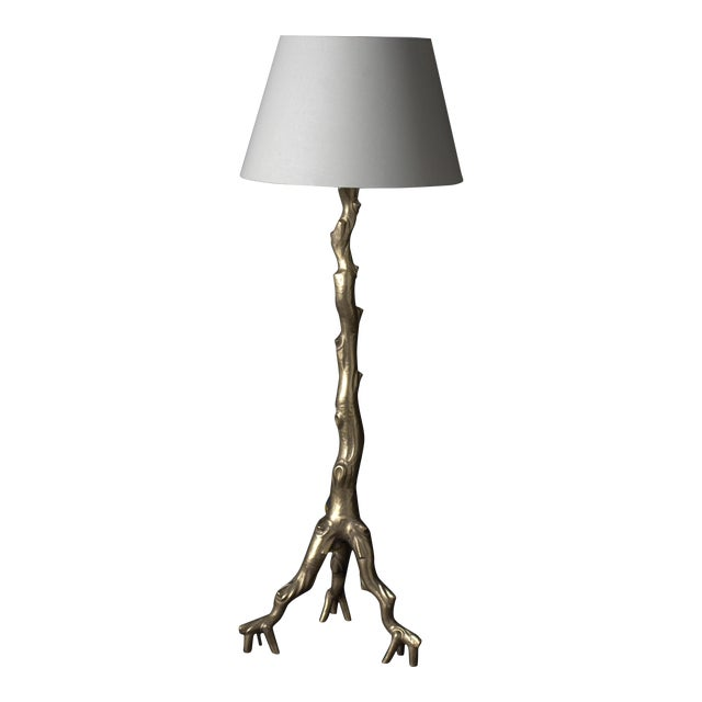 Twig Floor Lamp - 24K Gold Plate For Sale