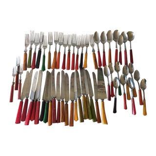 Bakelite Silverware - 55 Pieces