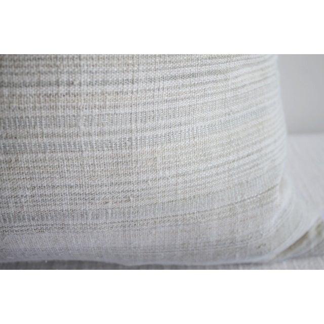 Early 21st Century Vintage European Linen Stripe Textile Pillow For Sale - Image 5 of 8