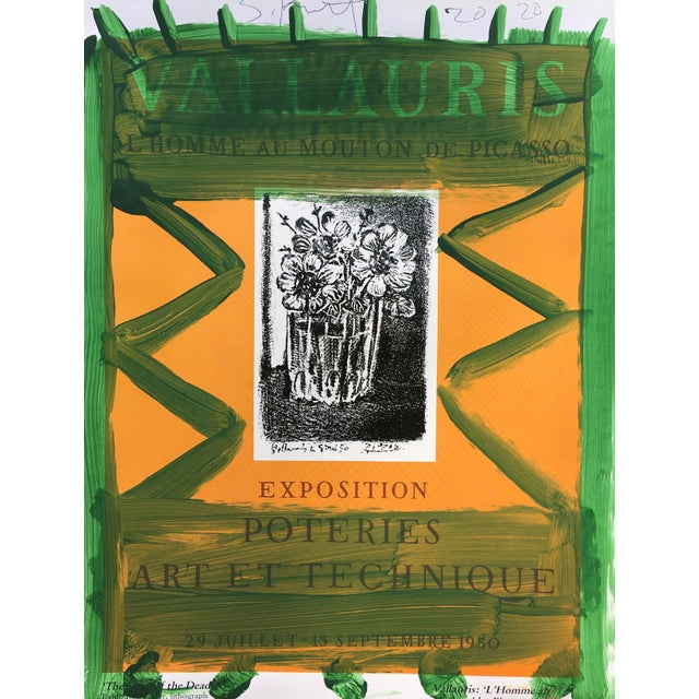 Abstract Abstract Framed Picasso Poster Painting by Sean Kratzert, 'Green Orange' For Sale - Image 3 of 4