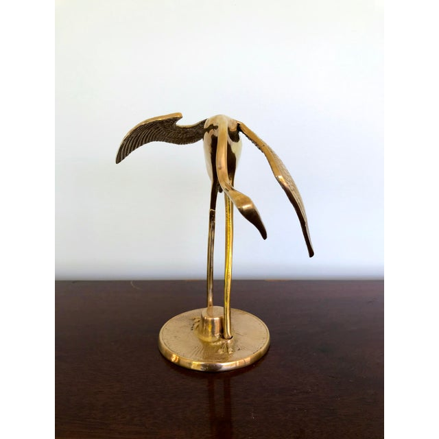 Brass Vintage Brass Cranes - a Pair For Sale - Image 8 of 13