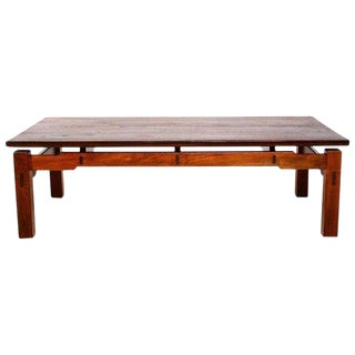 Solid Teak Coffee Table For Sale