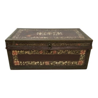 Antique Chinese Export Trunk For Sale