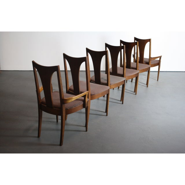 Mid-Century Modern Broyhill Brasilia Walnut Dining Chairs - Set of 6 For Sale - Image 3 of 11