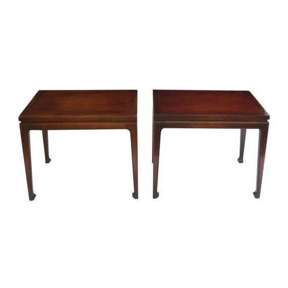 Fine Arts Furniture Walnut End Tables - A Pair For Sale - Image 4 of 4