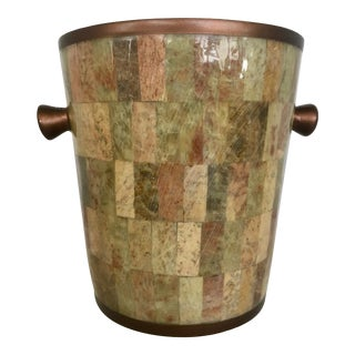 Tessellated Stone on Metal Ice Bucket