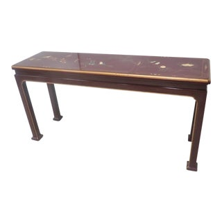Asian Style Paint Decorated Sofa Table