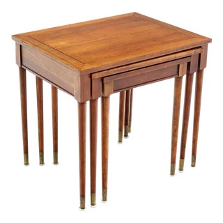 Mid-Century Modern Walnut Nesting Tables- Set of 3 For Sale
