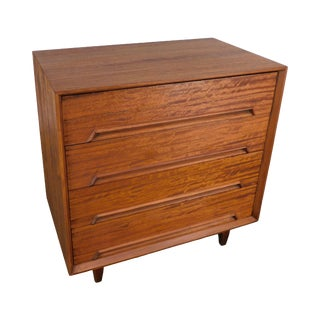 Drexel Perspective Mid Century Modern Walnut Chest of Drawers - Milo Baughman For Sale