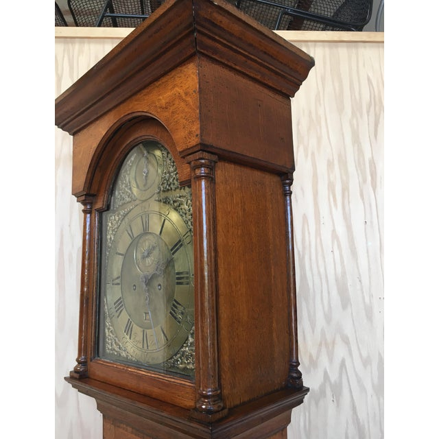 18th Century Longcase 8 Day Time & Strike Clock For Sale - Image 9 of 13