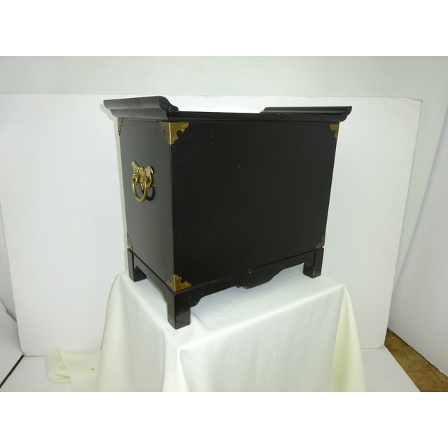 Black Lacquer Miniature 2 Drawer End Table C.1960 - Image 8 of 8